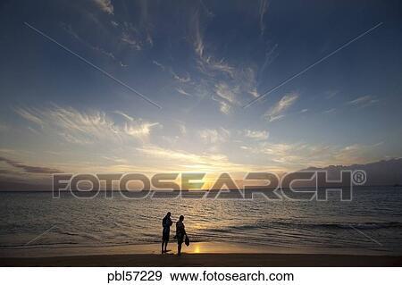 Sunset Kaanapali Beach Maui Hawaii Sunset Kaanapali