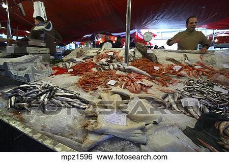 The Fish Market In Catania Sicily Italy