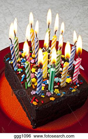 Fine Chocolate Birthday Cake With Candles Fire Flame Frosting Personalised Birthday Cards Veneteletsinfo