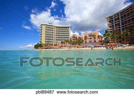 Royal Hawaiian Hotel Waikiki Beach Honolulu Oahu Hawaii