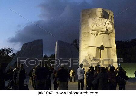 Stock Photo Of Martin Luther King Jr National Memorial Lit At