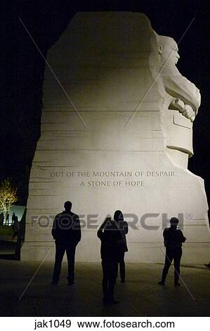 Stock Photograph Of Martin Luther King Jr National Memorial Lit At