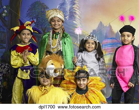 d0308cbee ... nursery school MR Stock Image. Stock Image - South Asian Indian boys  and girls performing fancy dress competition on stage in