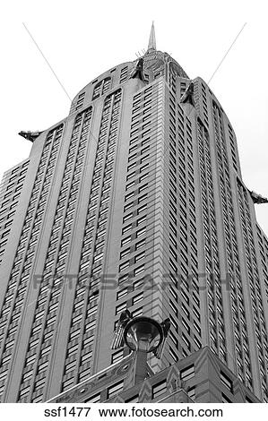 Picture Of The Top Chrysler Building Black And White New