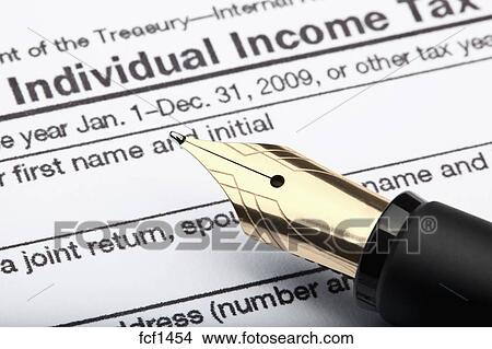 Stock Photo Of 1040 Us Individual Income Tax Return Form And