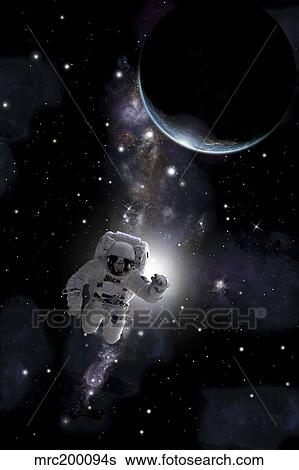 Artist S Concept Of An Astronaut Floating In Outer Space Stock