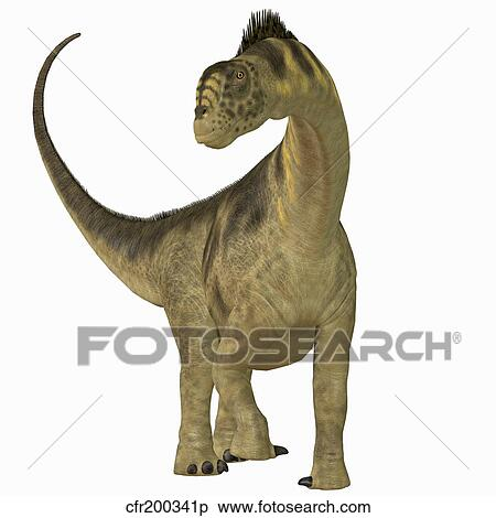 Stock Illustration of Camarasaurus dinosaur. cfr200341p - Search ... 81e4561afc27