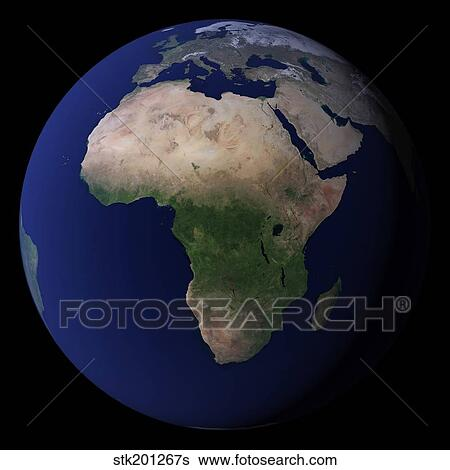 Full Earth Map.Stock Images Of Full Earth Showing Africa Europe Middle East