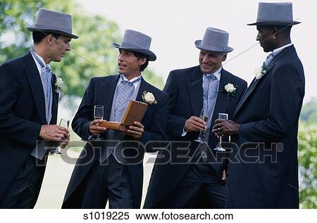 Stock Image of Groomsmen in Top Hats s1019225 - Search Stock Photos ... 23c0aa72fa6