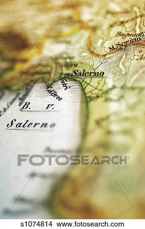 Stock Photo Of Antique Map Of Salerno Italy S1074814 Search Stock