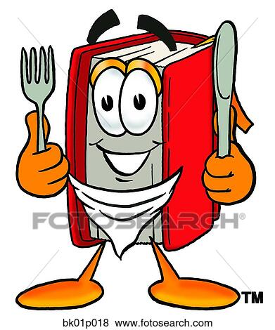 clip art of book eating bk01p018 search clipart illustration rh fotosearch com clip art eating dinner clip art eating brownies