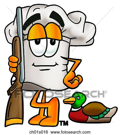 clip art of chef hat hunting ch01s016 search clipart illustration rh fotosearch com hunting clipart free hunting clipart funny