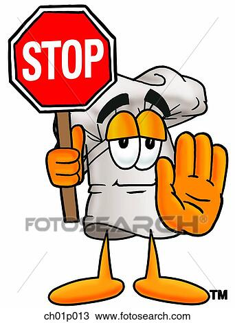 clipart of chef hat with stop sign ch01p013 search clip art rh fotosearch com stop sign clip art free stop sign clipart free