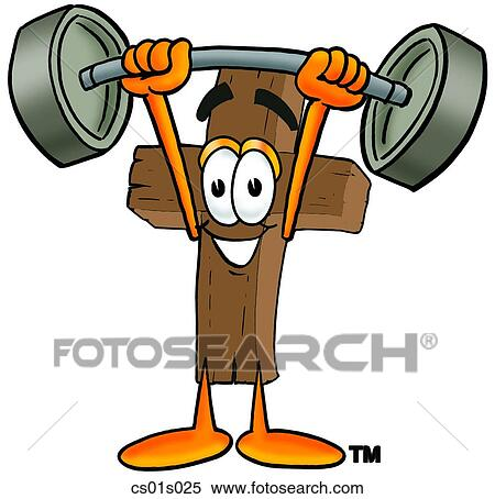 clipart of cross lifting weights high cs01s025 search clip art rh fotosearch com  powerlifting clipart free