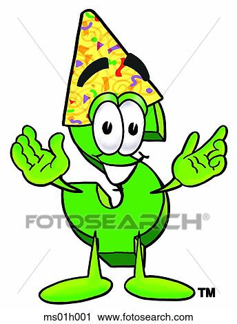 Dollar sign in party hat Clipart