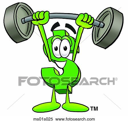 clipart of dollar sign lifting weights high ms01s025 search clip rh fotosearch com weightlifting clipart logo weightlifting clipart gif