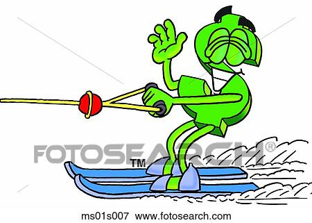 clip art of dollar sign water skiing ms01s007 search clipart rh fotosearch com slalom water skiing clipart water skiing clipart free