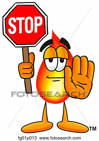 clipart of flame with stop sign fg01p013 search clip art rh fotosearch com step clipart stop clipart free
