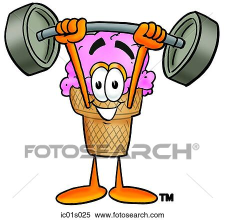 clipart of ice cream cone lifting weights high ic01s025 search rh fotosearch com weightlifting clipart logo weightlifting clipart