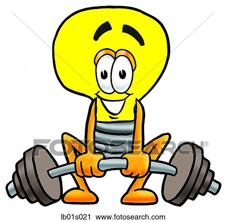 clipart of light bulb lifting weights low lb01s021 search clip art rh fotosearch com girl lifting weights clipart weightlifting clipart logo