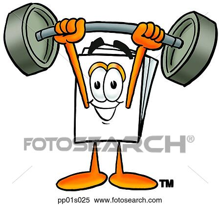 clipart of paper lifting weights high pp01s025 search clip art rh fotosearch com weightlifting clipart gif clipart lifting weight