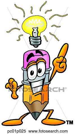Crayon, à, idée lumineuse Clipart | pc01p025 | Fotosearch