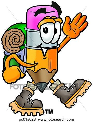 clipart of pencil hiking pc01s023 search clip art illustration rh fotosearch com hiking clip art free hiking clip art images