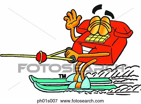 clip art of phone water skiing ph01s007 search clipart rh fotosearch com water skiing clipart Water Skiing Divider