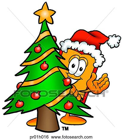 Clip Art Of Price Tag With Christmas Tree Pr01h016 Search Clipart