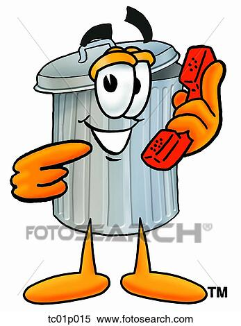 clipart of trash can with phone tc01p015 search clip art rh fotosearch com trash clip art pictures take out trash clipart