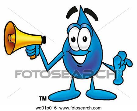 clip art of water drop with megaphone wd01p016 search clipart rh fotosearch com clipart megaphone free megaphone clipart images