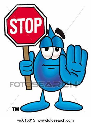 clipart of water drop with stop sign wd01p013 search clip art rh fotosearch com clipart hand stop sign microsoft clipart stop sign