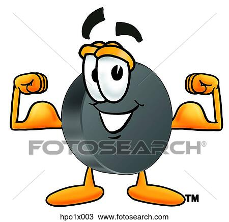 clipart of hockey puck flexing muscles hpo1x003 search clip art rh fotosearch com hockey puck clipart black and white ice hockey puck clipart