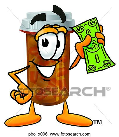 clip art of pill bottle with money pbo1x006 search clipart rh fotosearch com