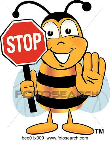 clip art of bee holding stop sign bee01x009 search clipart rh fotosearch com fotosearch clipart free fotosearch clipart gratuit
