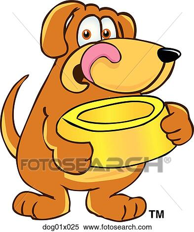 clipart of dog with food bowl dog01x025 search clip art rh fotosearch com  dog food bowl clipart