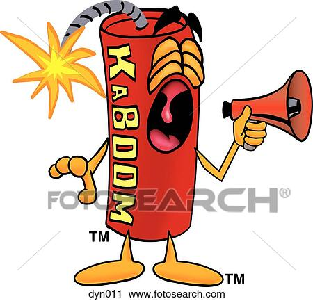 clipart of dynamite with megaphone dyn011 search clip art rh fotosearch com dynamite clip art free images dynamite clipart black and white