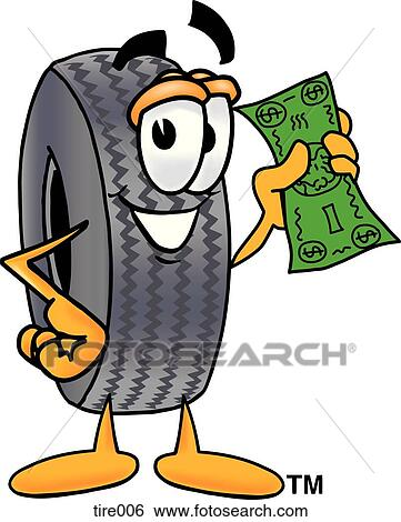 clip art of tire with money tire006 search clipart illustration rh fotosearch com tire clipart images tire clip art images
