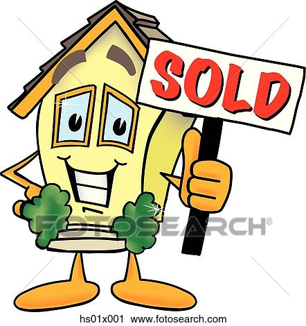 clipart of house with a sold sign hs01x001 search clip art rh fotosearch com house sold sign clipart house sold sign clipart