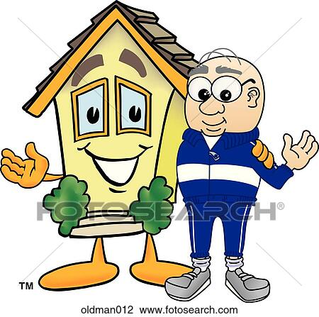 clip art of old man with house oldman012 search clipart rh fotosearch com  old person clipart free