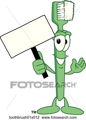 clip art of toothbrush with sign toothbrush01x012 search clipart rh fotosearch com toothbrush clipart pictures toothbrush clipart pictures