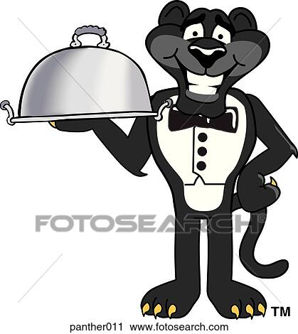 clipart of panther serving panther011 search clip art rh fotosearch com clip art partnership clipart partner talk