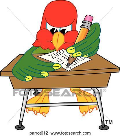 clip art of parrot writing at desk parrot012 search clipart rh fotosearch com fotosearch clipart free