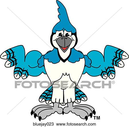 drawing of blue jay flexing muscles bluejay023 search clipart rh fotosearch com blue jay clipart for school shirts blue jay clipart for school shirts
