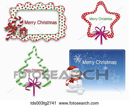 Clipart of Frames about Merry Christmas tds003tg2741 - Search Clip ...
