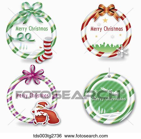 Stock Illustration of Frames about Merry Christmas tds003tg2736 ...