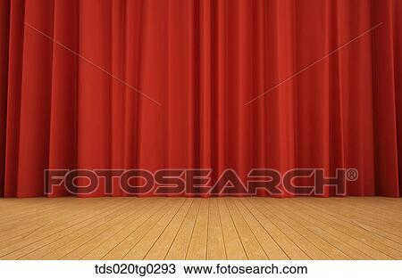Curtains Were Closed On The Stage
