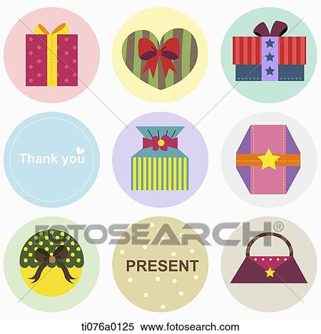 Stock Illustration Of The Gift Boxes Thank You Word And Present