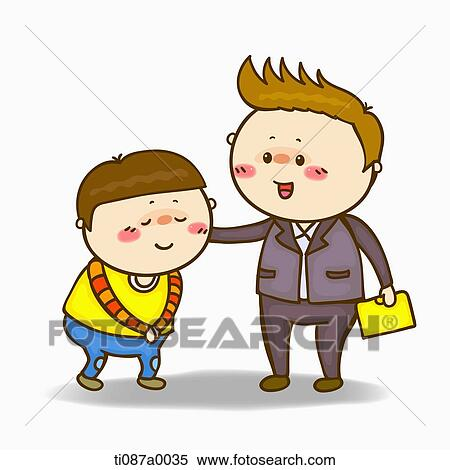 Stock illustration of a boy greeting to the teacher ti087a0035 a boy greeting to the teacher m4hsunfo