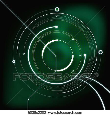 Cerchio Bianco E Sfondo Verde Disegno